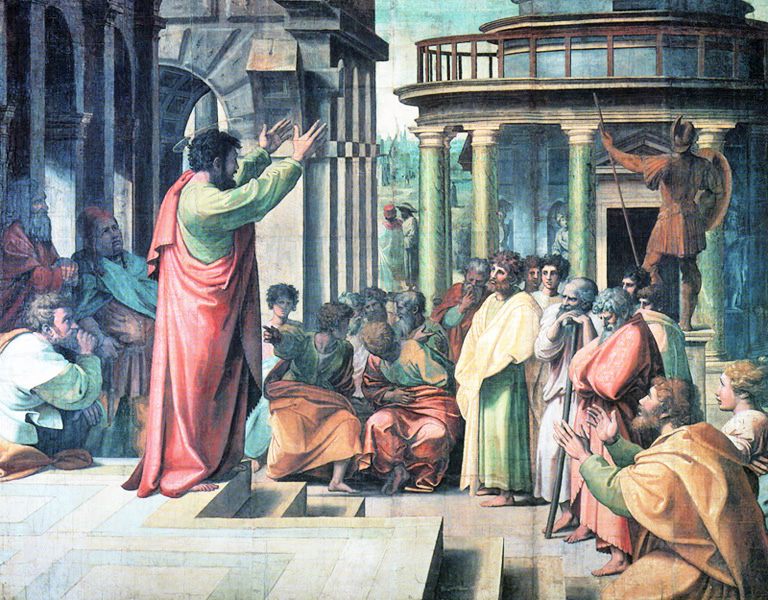 raphael of urbino italy st paul preaching in athens at the areopagus before