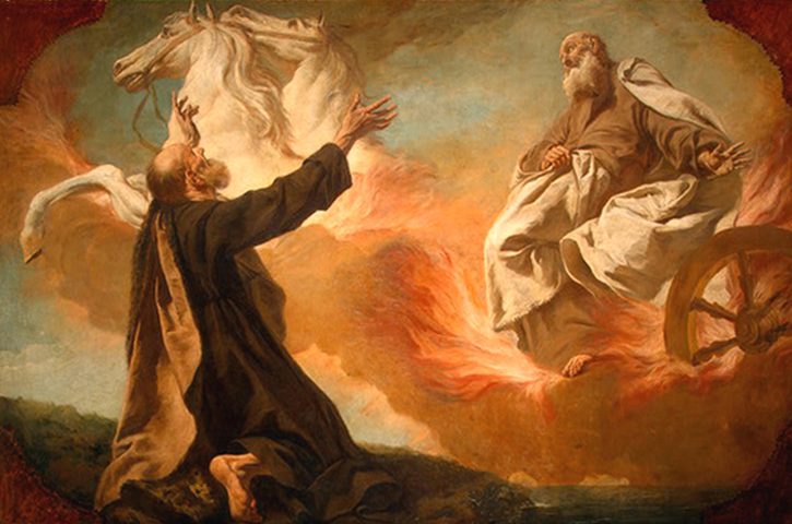 Guiseppe Angeli - Elijah and the Chariot of Fire, National Gallery of Art, Washington,  D. C., 1740.