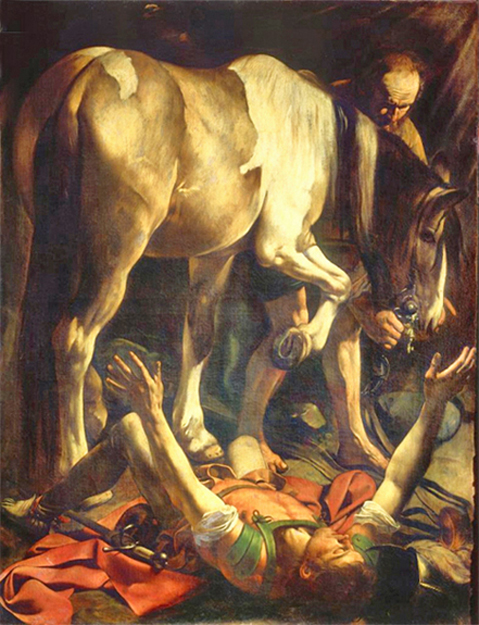 Caravaggio - The Conversion of Paul, Cerasi Chapel, Santa Maria del Popolo, Rome, 1600.