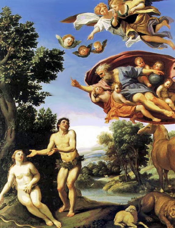 Domenichino - The Fall of Adam and Eve, 1625, Musee des Beaux-Arts, Grenoble.