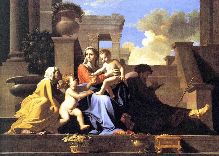 Nicolas Poussin - The Holy Family on the Steps, 1648.