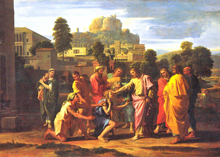 Nicolas Poussin - Jesus Heals the Blind Man, The Louvre, Paris, ~1640.