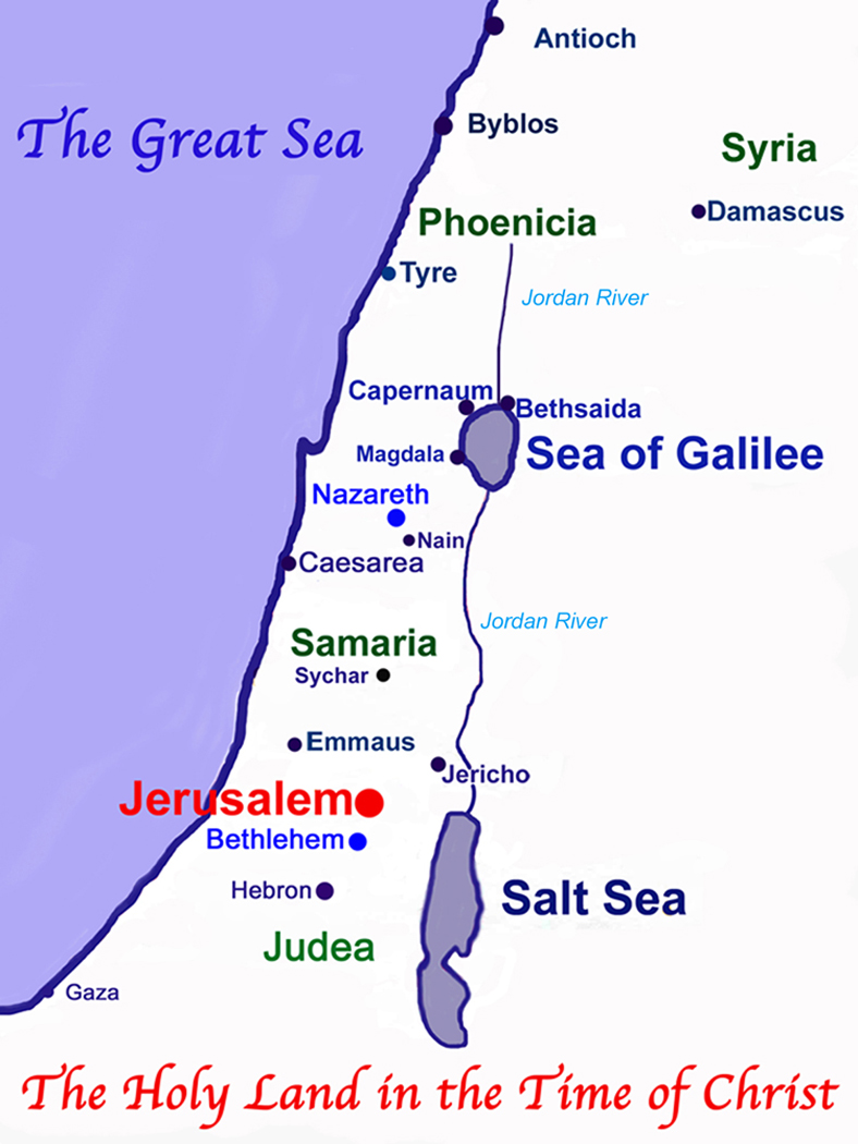 The Holy Land in the Time of Christ.