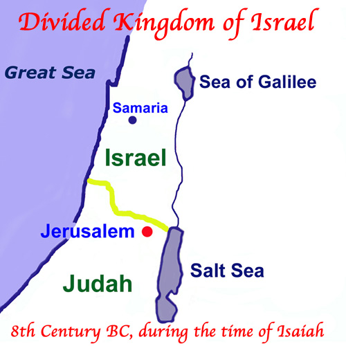 The Divided Kingdom in the Time of Isaiah, Eighth Century BC.
