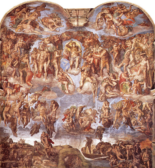 Michelangelo - The Last Judgement, Sistine Chapel, Vatican City, 1541.