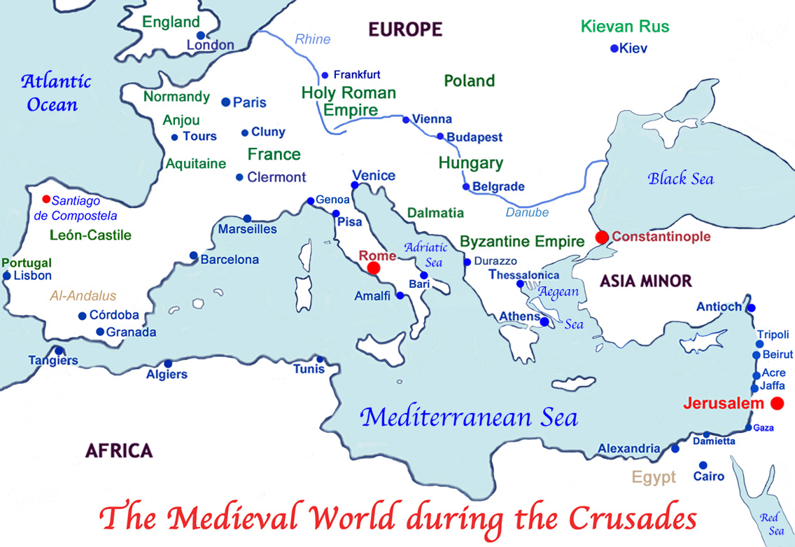 THE CRUSADES TO THE HOLY LAND - Major battles of the crusades