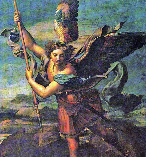 Raphael of Urbino, Italy - Michael the Archangel, Musee du Louvre, Paris, 1518.