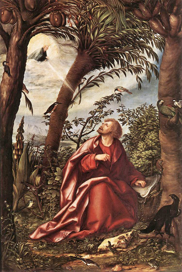 Hans Burgknair - St. John the Evangelist on Patmos, 1508