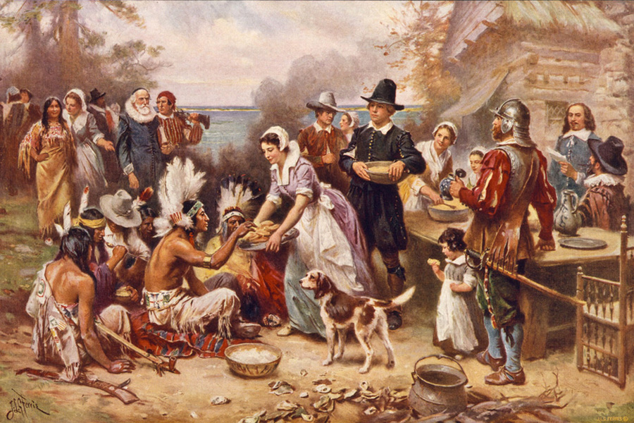 Jean Leon Gerome Ferris - The First Thanksgiving, Smithsonian, Washington, D. C., 1919.