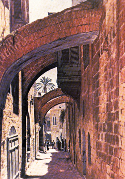 The Via Dolorosa or The Way of the Cross, Jerusalem.