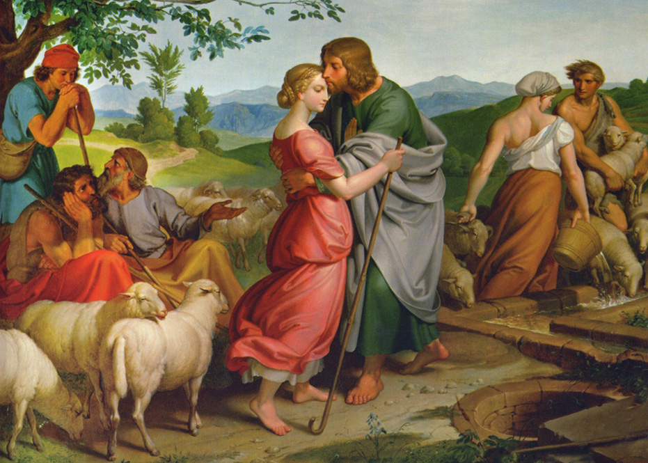 Joseph von Fuhrich of Bohemia - Jacob Meets Rachel at the Well, Austrian Gallery Belvedere, Vienna, 1836.