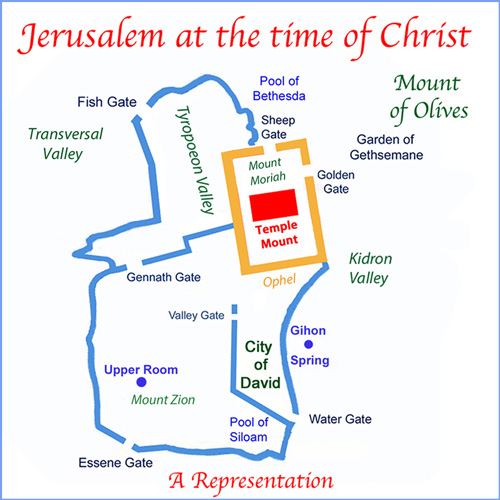 Representation of the City of Jerusalem at the Time of Christ (See Reference 5).