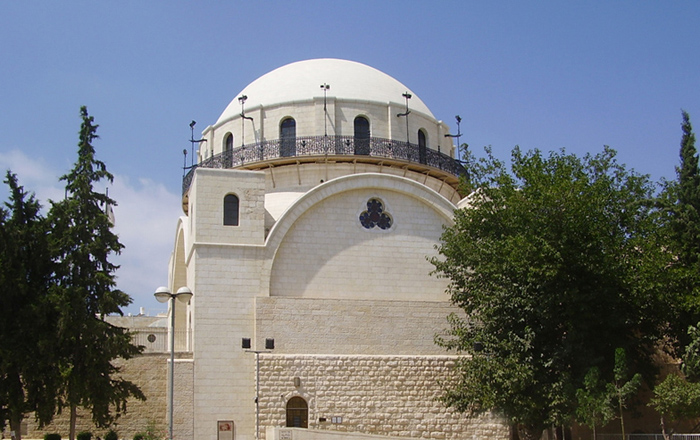 The Restored Hurva Synagogue in the Jewish Quarter of Old Jerusalem, 2010.