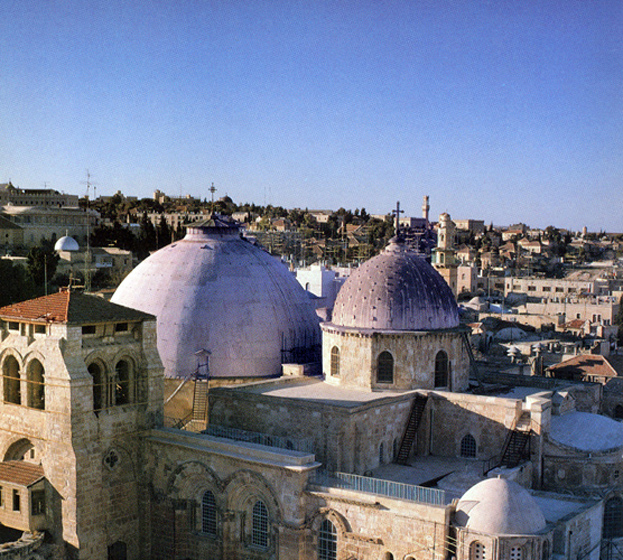 The Church of the Holy Sepulchre in present-day Jerusalem.